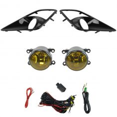 12-15 Scion FR-S Add-on Yellow Lens Fog Light Pair w/ Installation Kit