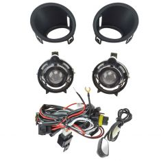 14-15 Chevy Camaro 3.6 Add-on Clear Lens Projector Fog Light Pair w/ Install Kit