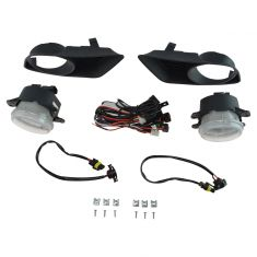 11-14 Dodge Charger Add-on Clear Lens Fog Light Pair w/ Installation Kit