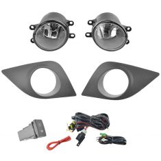 14-15 Toyota Corolla Add-on Clear Lens Fog Light Pair w/ Installation Kit
