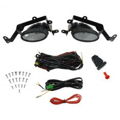 06-08 Honda Civic Coupe Add-on Clear Lens Fog Light Pair w/ Installation Kit