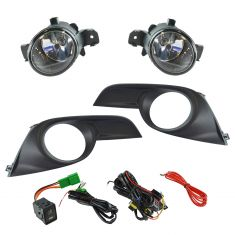 13-15 Nissan Altima Sedan Add-on Clear Lens Fog Light Pair w/ Installation Kit