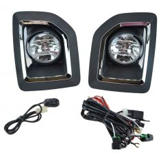 15-16 GMC Sierra 2500 Add-on Clear Lens Fog Light Pair w/ Installation Kit