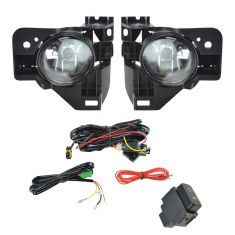 09-14 Nissan Maxima Add-on Clear Lens Fog Light Pair w/ Installation Kit
