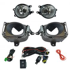 10-11 Toyota Prius Add-on Clear Lens Fog Light Pair w/ Installation Kit