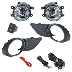 11-15 Toyota Sienna Add-on Clear Lens Fog Light Pair w/ Installation Kit