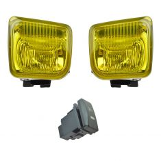 96-98 Honda Civic Add-on Yellow Lens Fog Light Pair w/ Installation Kit