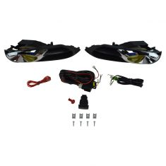 12-13 Honda Civic Coupe Add-on Yellow Lens Fog Light Pair w/ Installation Kit