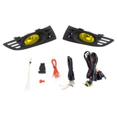 03-05 Honda Accord Coupe Add-on Yellow Lens Fog Light Pair w/ Installation Kit