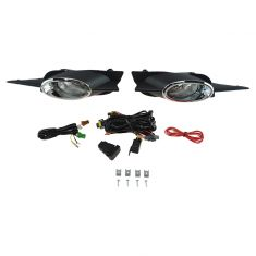 09-11 Honda Civic Coupe Add-on Clear Lens Fog Light Pair w/ Installation Kit