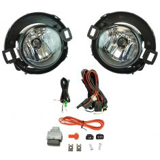 05-13 Nissan Xterra; 10-13 Frontier Add-on Clear Lens Fog Light Pair w/ Installation Kit