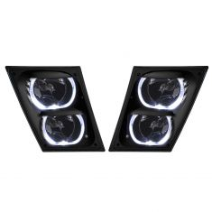 04-17 Volvo VNL VNM Black Performance Fog Light ( w/ LED Halo) Pair