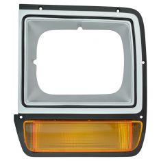 86-89 Dodge D/W 100; 86-90 D/W150, 250, 350, Ramcharger Silver Headlight Bezel w/Parking Light LF