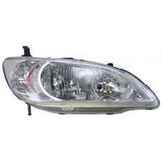 2004-05 Honda Civic Passenger Side Headlight