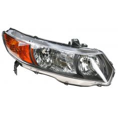 2006 Honda Civic Coupe Headlight Passenger Side
