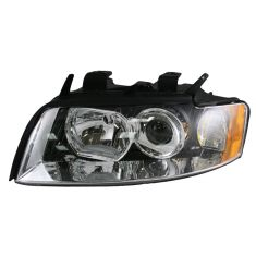 02-05 Audi A4 S4 Non-HID Headlight LH