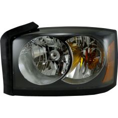 06-06 Dodge Dakota (w/ black) Headlight LH