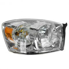06-08 Dodge Ram PU Headlight w/o Amber Bar RH