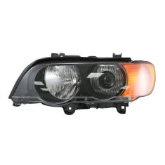 00-03 BMW X5 Headlight HID w/Yellow Signal LH