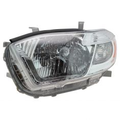 2008-10 Toyota Highlander Headlight LH (Base Limited)