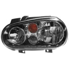2002-07 VW Golf w/FL Headlight (Chrme & Black) LH