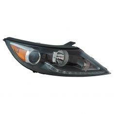10 Kia Sportage w/2.4L; 11-12 Sportage LED Type Headlight RH