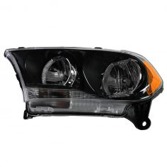 11-12 Dodge Durango Halogen Headlight w/Black Bezel LH