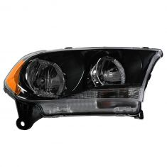 11-12 Dodge Durango Halogen Headlight w/Black Bezel RH