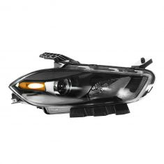 13 Dodge Dart Halogen Headlight w/Black Trim RH
