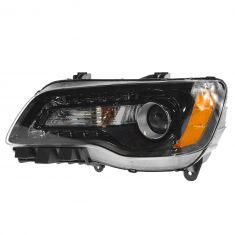 11-14 Chrysler 300 Halogen Headlight w/Black Bezel LH