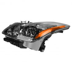 08 Infiniti G37; 09-10 G37 Coupe & Conv HID Headlight w/Bulbs & Ballast (w/o Adaptive Lamps) LH