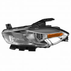 13-14 Dodge Dart Halogen Headlight w/ Chrome Trim LH