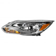 12 (from 2/06/12)-14 Ford Focus L; 13-14 Focus S, SE Halogen Headlight w/Aluminum Trim LH