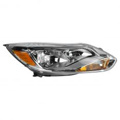 12 (from 2/06/12)-14 Ford Focus L; 13-14 Focus S, SE Halogen Headlight w/Aluminum Trim RH