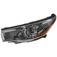 14-16 Toyota Highlander (w/Smoked Chromed Housing) Headlight LH