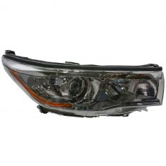 14-16 Toyota Highlander (w/Smoked Chromed Housing) Headlight RH