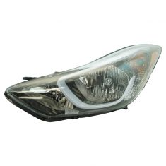 14-15 Hyundai Elantra Coupe; 14-16 Elantra Sedan Korean Built (Non Projection Type) Headlight LH