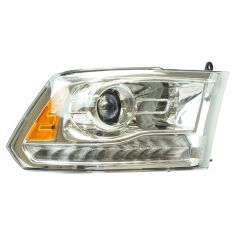 13-15 Ram 1500; 13-16 2500, 3500 (Chrome Bi-Functional Halogen Projector Design) Headlight RH