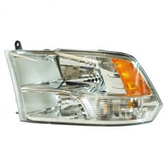 13-17 Dodge Ram 1500; 12 (frm 7-23-12)-17 2500, 3500 Quad Halogen w/Chrome Bezel Headlight LH