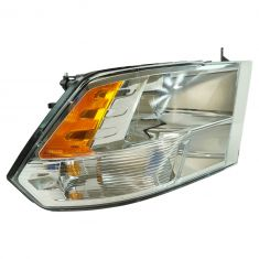 13-17 Dodge Ram 1500; 12 (frm 7-23-12)-17 2500, 3500 Quad Halogen w/Chrome Bezel Headlight RH