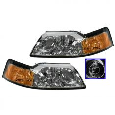 Headlight (Chrome Style) PAIR