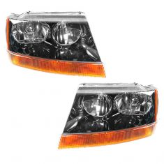 99-04 Gr Cher Laredo Headlights Pair