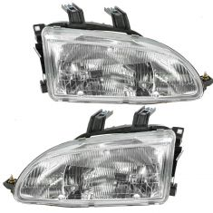92-95 Honda Civic Headligths Pair