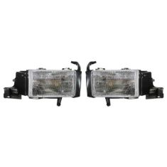 1994-01 Dodge Pickup Headlights PAIR w/o Side Marker