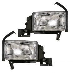 94-02 Dodge Pickup Truck Headlight w/o Marker PAIR