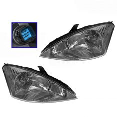 2000-02 Ford Focus Headlight Pair