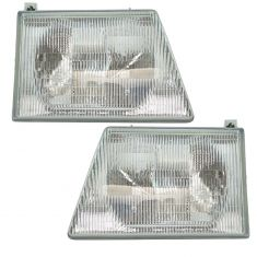 1992-96 Ford Van Headlight Pair