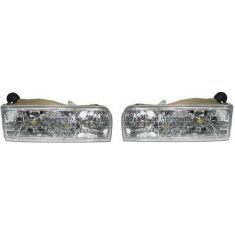 1995-97 Lincoln Town Car Composite Headlight Pair