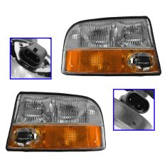 98-02 S15 Composite Headlight with Fog lights Pair