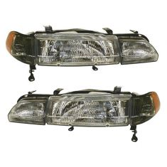 1990-93 Acura Integra Composite Headlight Combo Pair